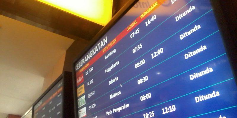 Seluruh Penerbangan SSK II Delay