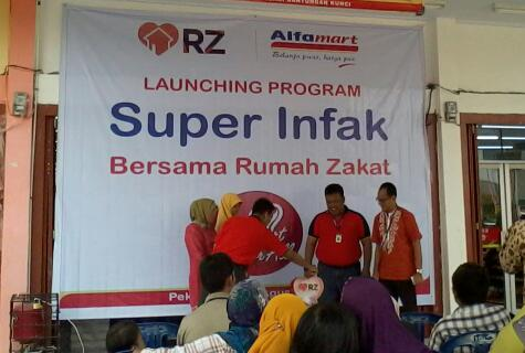Superinfak, Kolaborasi Amal Alfamart dan Rumah Zakat