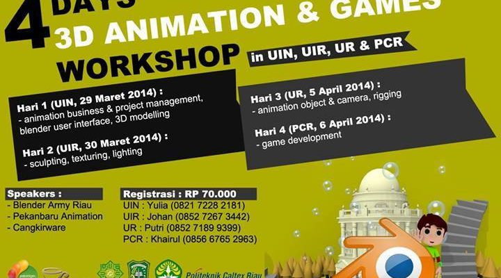Buruan Daftar! Workshop Animation Tinggal 2 Hari Lagi.
