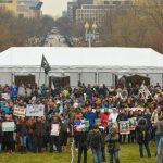 Aksi Demonstrasi Tolak Pelantikan Trump