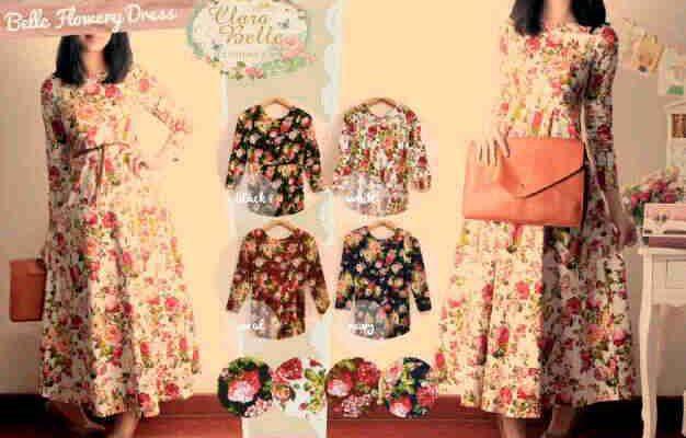 Belle Flowery Dress Cocok untuk Musim Panas