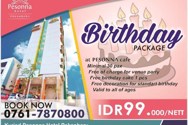 Rayakan Birthday Party di Pesonna Hotel, Hanya Rp99 Ribu