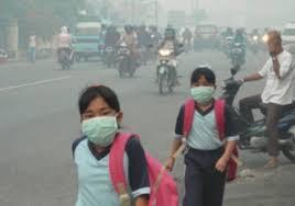 Hampir Seluruh Riau dan Sumbar Tertutup Asap
