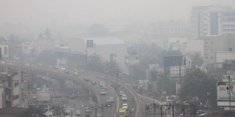 6 Jam Sekali, Menhub Cek Kondisi Kabut Asap Riau