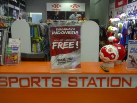 Buy 1 Get 1 Free di Sport Station