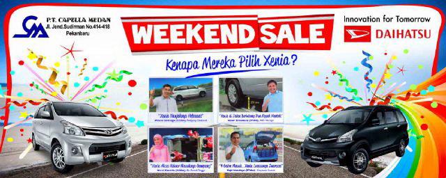 Daihatsu Bagi-bagi Doorprize di Weekend Sale
