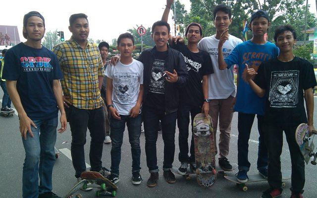 Ini Wadahnya Pencinta Skate Boarding di Riau