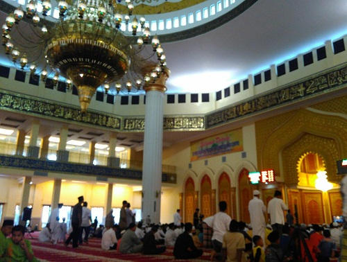 Wakili Bupati Suparman, Sukiman Beri Sambutan Idul Fitri di Mamic Rohul