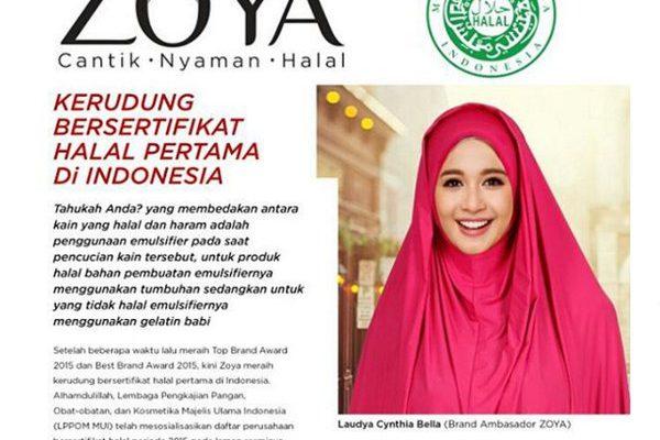 Pertama di Indonesia! Zoya Beri Sertifikat Halal Untuk Kerudung