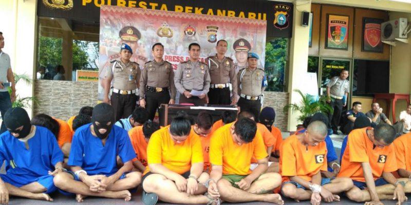 10 Hari Ramadan, 30 Kasus dengan 32 Tersangka Terungkap di Wilkum Polresta Pekanbaru