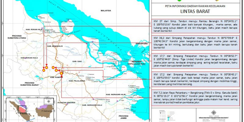 Awas, Ada 5 Titik Rawan Jalur Lintas Barat Riau