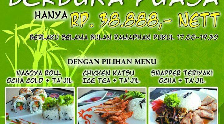 Buka Puasa di Enoki Japanese Restaurant Hanya Rp 38.888 Loh!