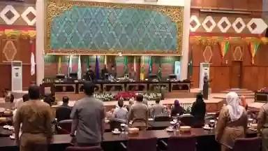 DPRD Riau Gelar Paripurna Pembentukan Alat Kelengkapan Dewan dan Pengangkatan Pimpinan