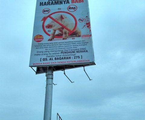 Spanduk Riba Haram Beredar di Pekanbaru