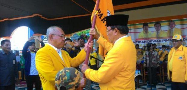 Ribuan Masyarakat Inhil Atuasias Hadiri Pelantikan Partai Golkar dan Gerak Jalan Santai