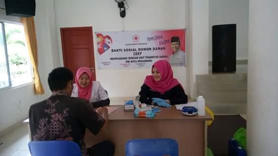 Meski Bulan Puasa, Masyarakat Pekanbaru Tetap Ramai Donor Darah
