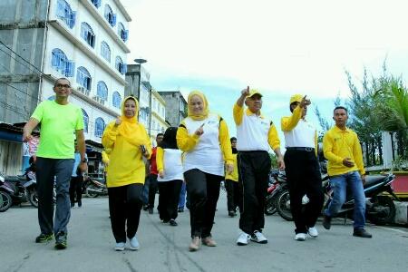 Bupati Inhil dan Gubernur Riau Semarakkan Germas 2017