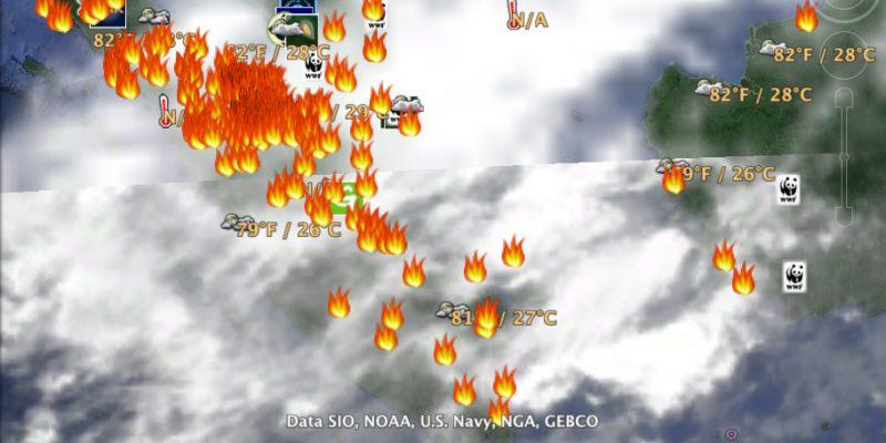 BMKG: Hotspot Sumatera 34 Titik