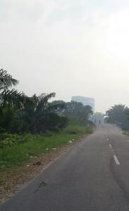 Telah Seminggu, Kabut Asap Tipis Masih 'Setia' di Kota Pekanbaru