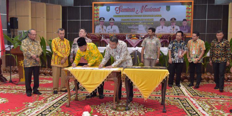 Pemkab Inhil Terima CSR Dari Bank Riau Kepri Berupa Pembangunan Pondok Pesantren Anwarul Ulum dan Ruang Perawatan CVCU RSUD