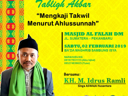 Yuk Isi Malam Minggumu Dengan Mengikuti Tabligh Akbar di Masjid Raya Al Falah Darul Muttaqin
