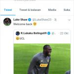 Inter Gagal Lolos 16 Besar Liga Champions, Shaw Sindir Lukaku di Twiter