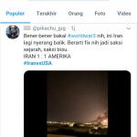 Tagar #IranvsUSA Trending di Twitter, Netizen: Skor Sementara 1-1