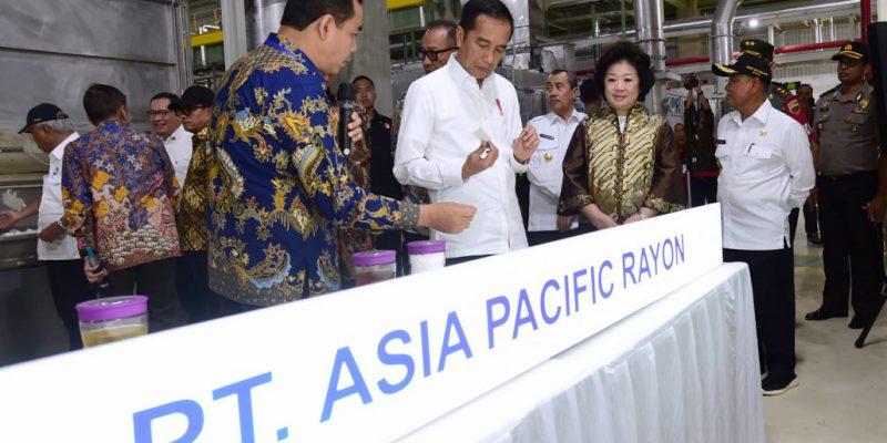 Presiden Resmikan Pabrik Viscose Rayon Terintegrasi Terbesar di Indonesia