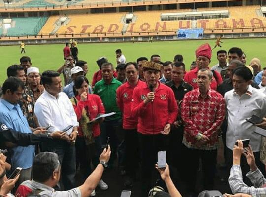 Sambangi Stadion Utama Riau, Ketum PSSI: Harus Banyak Perbaikan
