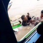 Detik-detik Video Kecelakaan Kapal Speedboat di Banyuasin, Penumpang Berusaha Menyelamatkan Diri