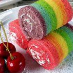 Ceria untuk Lebaran, Ini Resep Buat Rainbow Cake Roll yang Lezat