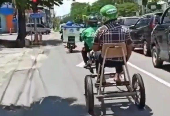 Takut Corona, Driver Ojol Ini Rombak Motornya, Videonya Viral