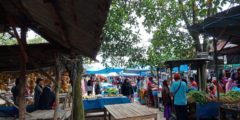 Pasar Tradisional Kubang Raya Tetap Ramai Pengunjung di Tengah COVID-19, Ini yang Dilakukan Pengurus