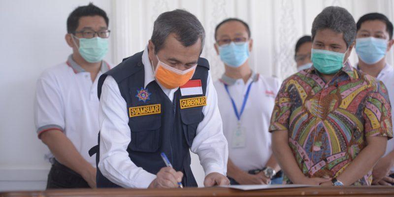 Program 7 Desa Berlistrik di Provinsi Riau Diresmikan Via Virtual