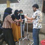 Mahasiswa Universitas Riau Buat Teknologi Tepat Guna, Semprot Handsanitizer dan Sabun Cuci Tangan Sistem Injak