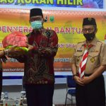 Kwarda Riau Beri Bantuan Sembako ke Gerakan Pramuka Terdampak COVID-19 di Rohil