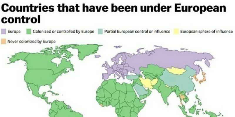 Sejarah Dunia Terpusat ke Eropa? Peta Ini Menjawabnya