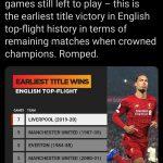 Sisakan Tujuh Laga, Liverpool Jadi Tim Tercepat Menangkan Liga Inggris