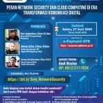 UPB Gelar webinar Pentingnya Keamanan Jaringan dan Cloud Computing di Masa Pandemi