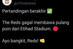Dihantam City 4-0, Fans Liverpool: Udah Juara Kok