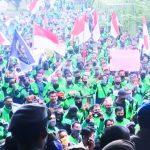 Merasa Dizalimi, Ratusan Pengemudi Gojek Demo di Pekanbaru