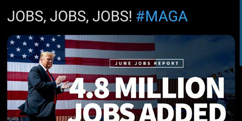 Trump Klaim Ciptakan 4,8 Juta Lapangan Kerja untuk Warga AS