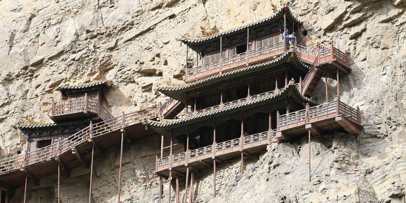 Wisata Ekstrem, Kuil di Tiongkok yang Terletak di Tebing Curam