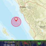 Gempa 5,2 SR Guncang Pesisir Sumbar Pagi Ini