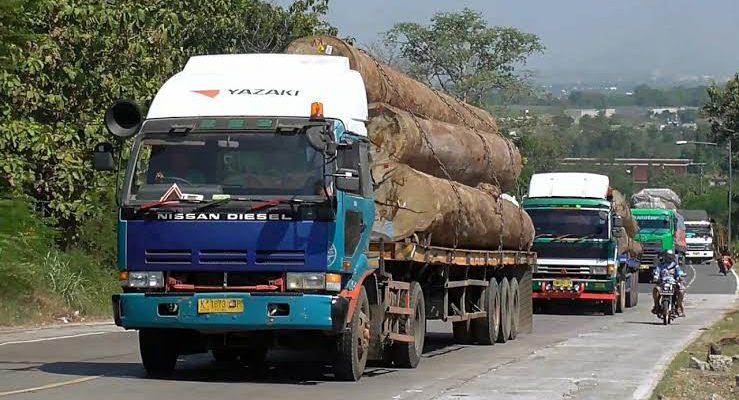 PUPR Riau Sebut Truk ODOL Muatan Kayu dan Batu Bara Bikin Rusak Jalan Japura – Peranap