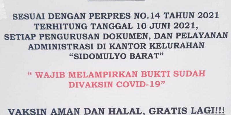 Bukti Vaksin Sebagai Syarat Ngurus Administrasi Sama dengan Pemaksaan? Ini Kata Ombudsman Riau